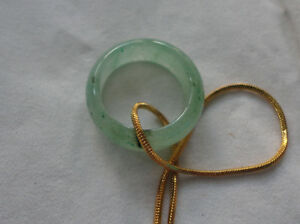 Jade Ring with gold chain