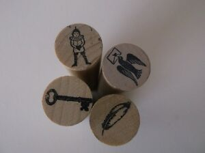 NEW Unique Mini Wooden / Rubber Ink Craft Stamps 3 GTA Locations