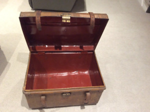 Antique steamer trunk , made before 1954