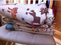 Animal print blinds/material