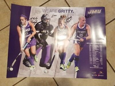 2017 JMU DUKES Team Signed Field Hockey Schedule Poster James Madison University