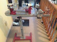 Silent Partner floorstand Tennis raquet stringing machine