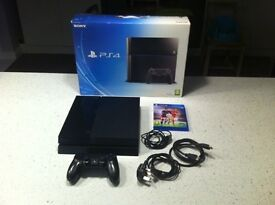Sony playstation 4 500gb console boxed with fifa 16 ps4