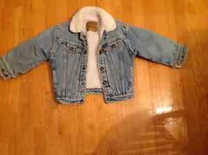 Boys Lined Levis Jean Jacket