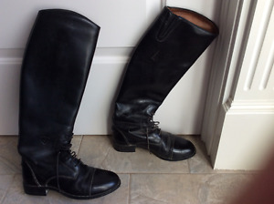 Ariat English riding boots and English bridle
