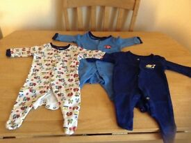 3x new born size baby grow-sleep suits