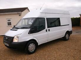 Ford Transit 2.2TDCi ( 125PS ) ( EU5 ) 350L H/Roof Double cab 350 LWB van