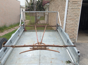 antique buggy/carriage frame and roof
