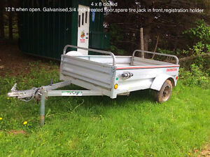Galvanised utility trailer