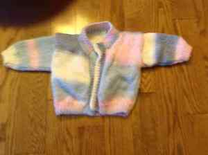 HAND-MADE BABY CARDIGAN SWEATER IS LOVELY