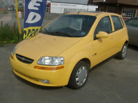 2008 CHEV AVEO LT AUTO  LOADED  INCL.PW ROOF   124KMS ONLY $3996