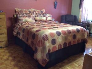 couvre lit et rideaux