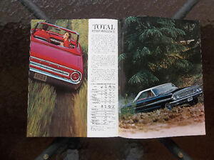 1964 Ford Galaxie 500 & XL dealer showroom catalog London Ontario image 7