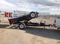 Lightweight dump trailer rentals for small pickup or SUV