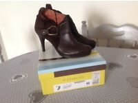 Women's 'Hispanitas' Brown Leather High Heel Ankle Boots Size 7 - Brand New in box.