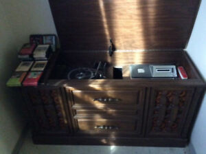Vintage record/eight track player