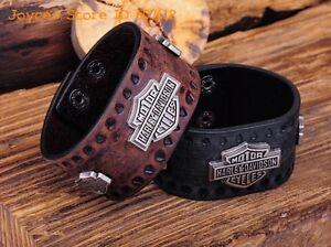 Harley Davidson Leather Bracelets - Black & Brown - New London Ontario image 2