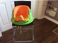 Baby Activity Play Seat, Booster Feeding Chair, Spinning Toy Food Eating Tray