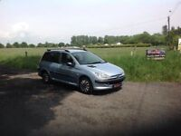 24/7 Trade sales NI Trade Prices for the public 2004 Peugeot 206 1.4 SW Estate blue
