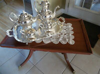 Antique solid wood coffee table perfect for small space