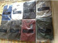 Ralph Lauren men's polo t shirt small pony short sleeves 8 colours £18 each cotton