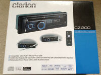 Clarion car stereo head unit with remote control