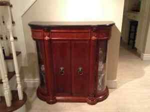 Entry table or curio cabinet from Bombay co