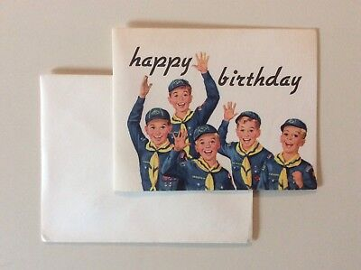 BSA Cub Scouts Vintage Birthday Card, Pack Invitation, No 3833