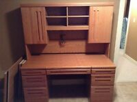 Moving : Solid Wood Desk. Paid over $2000