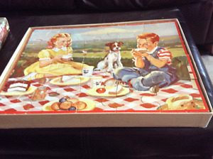 Vintage Bobbsey twin puzzles