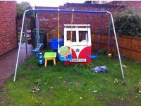 Childs garden swing set