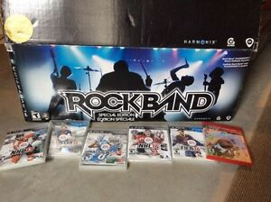 PS3 Rockband and 6 other games