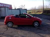 24/7 Trade sales NI Trade Prices for the public 2006 Peugeot 206 CC 1.6 Allure Convertible Red Full