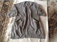 H&M ladies long cardigan light wool size: L used £2