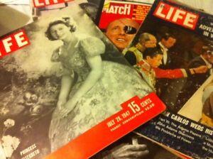 6 Life magazine & 1 Paris match rare