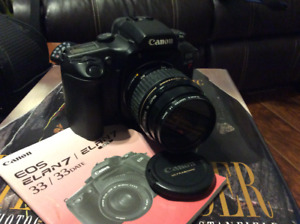 Canon Elan 7 camera and lenses