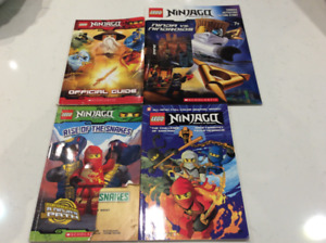 4 Ninjago books for kids (in English) 10 $ the lot