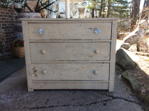 Beautiful Rustic Three Dove Tail Drawer Dresser