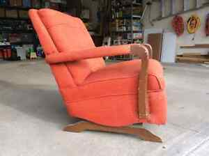 Vintage 1950's rocking chair, solid wood, made to last