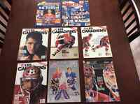 6revues des canadiens 1990s+all star program 1993+panini hockey