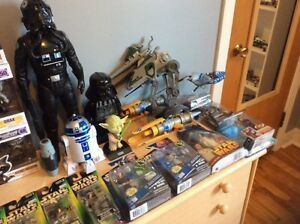 Star Wars action figures and collectibles