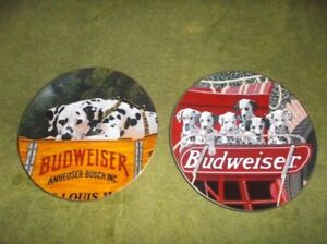 Set of 2 Budweiser Limited Edition Collector Plates