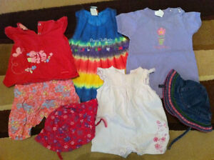 Lot of Girls 6-9 Month Summer Clothes