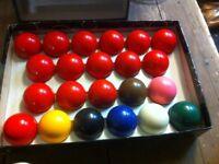 Snooker balls + American Pool balls