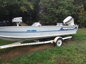 16ft Princecraft springbok 40hp Johnson $3000