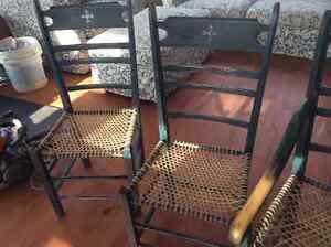 Chaises paysannes sur babiche fait par artisan Gatineau Ottawa / Gatineau Area image 4