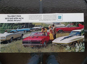 1967 GM Muscle Car ad...Corvette Camaro GTO Chevelle Cutlass