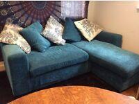 Teal Corner Sofa (Homebase)