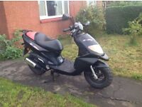 NOW SOLD .... DAELIM E FIVE RUGGED 50cc 2 STROKE SCOOTER LONG MOT ....NOW SOLD. THANKS.