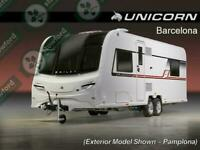 Bailey Unicorn 4 Barcelona, NEW/DISPLAY MODEL, 2019, 4 Berth, Touring Caravan